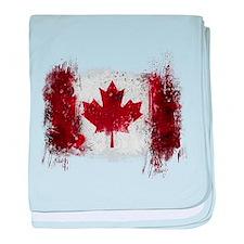 Canada Graffiti baby blanket