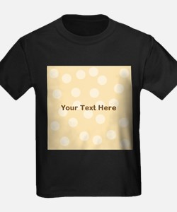 Beige Dots with Text. T
