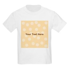 Beige Dots with Text. T-Shirt