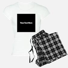Black Background with Text. Pajamas