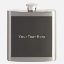 Black Background with Text. Flask