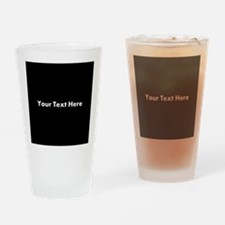 Black Background with Text. Drinking Glass