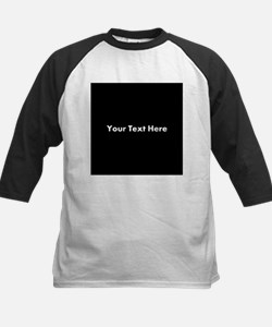 Black Background with Text. Tee