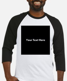 Black Background with Text. Baseball Jersey