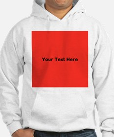 Red Background with Text. Hoodie