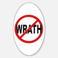 Anti / No Wrath Sticker (Oval)