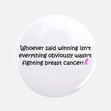 """breast cancer awareness.png 3.5"""" Button (100 pack)"""