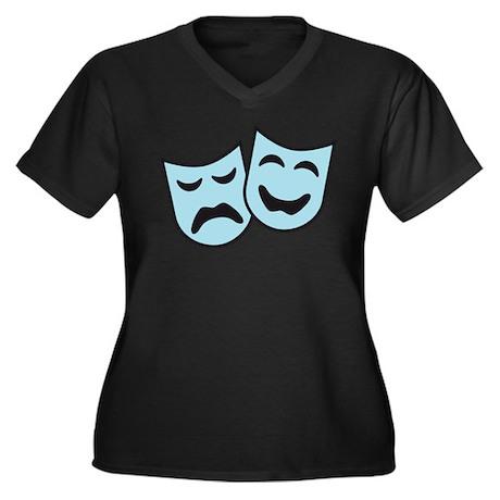 theater Women's Plus Size V-Neck Dark T-Shirt