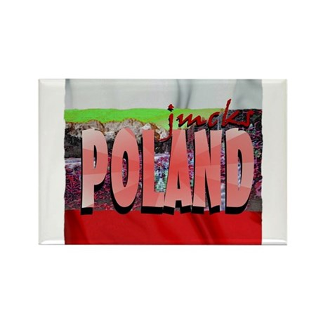 poland art illustration Rectangle Magnet (10 pack)