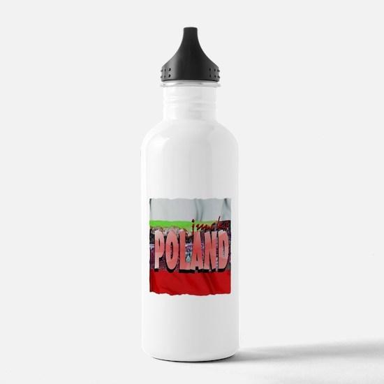 poland art illustration Water Bottle