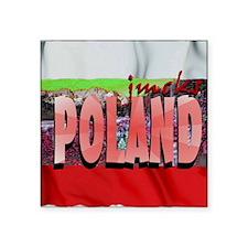 "poland art illustration Square Sticker 3"" x 3"""