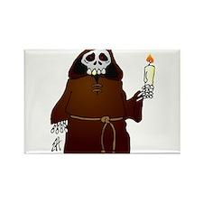Skeleton monk habit wish you a scary Halloween Rec
