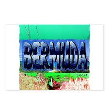 bermuda pencil art illustration Postcards (Package