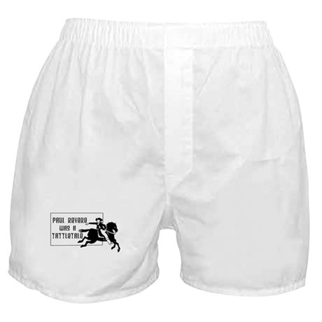 Paul Revere Was a TattleTale Funny Boxer Shorts