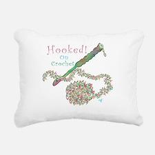 Hooked on Crochet Rectangular Canvas Pillow