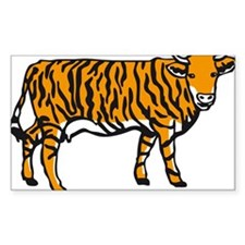 Tiger cow Decal