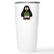 Shaw Tartan Penguin Travel Mug