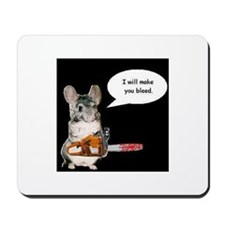 Chainsaw Chinchilla Mousepad