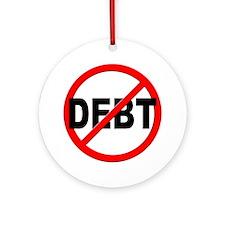 Anti / No Debt Ornament (Round)