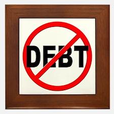 Anti / No Debt Framed Tile