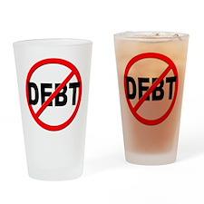 Anti / No Debt Drinking Glass