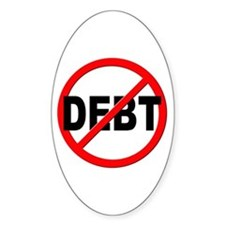 Anti / No Debt Decal