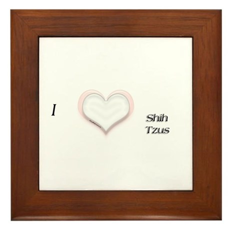 I heart Shih Tzus Framed Tile