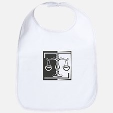 Black & White Libra Scale Bib