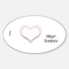 I heart Skye Terriers Oval Decal