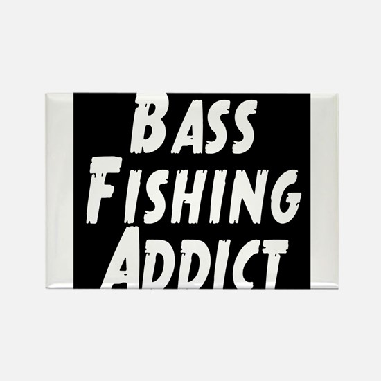Bass Fishing Addict Rectangle Magnet
