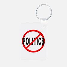 Anti / No Politics Keychains