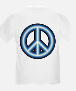Blue Peace Symbol T-Shirt