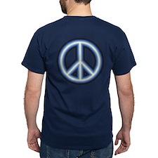 Blue Peace Symbol T-Shirt