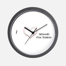 I heart Smooth Fox Terriers Wall Clock