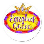Scrapbook Queen Crown Round Car Magnet