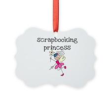 Scrapbooking Princess Ornament