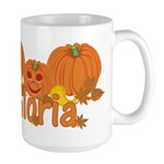 Halloween Pumpkin Gloria Large Mug