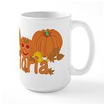 Halloween Pumpkin Gloria Large Mug