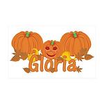 Halloween Pumpkin Gloria 35x21 Wall Decal