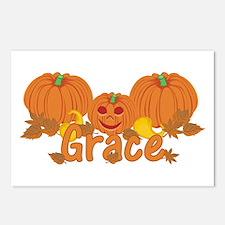 Halloween Pumpkin Grace Postcards (Package of 8)