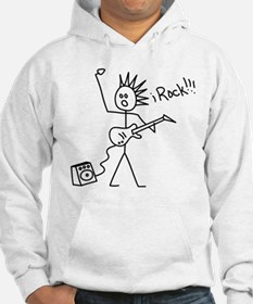 iRock Stick Man with Spiked Hair Plays Electric Gu