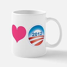 Peace, Love, Obama Mug