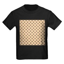 Beige and black polka dot. T