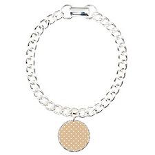 Beige and White Dot Design. Bracelet