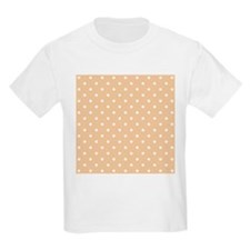 Beige and White Dot Design. T-Shirt