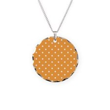 Orange and White Dot Design. Necklace