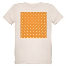 Orange and White Dot Design. T-Shirt