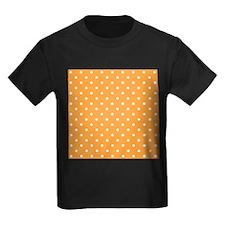 Orange and White Dot Design. T