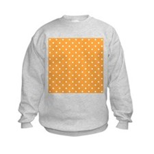 Orange and White Dot Design. Jumper Sweater