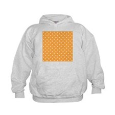 Orange and White Dot Design. Hoodie